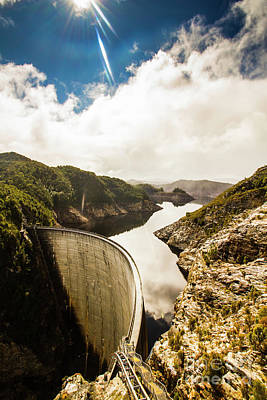 Hydro Wall Art - Photograph - Gordon Dam Tasmania  by Jorgo Photography - Wall Art Gallery