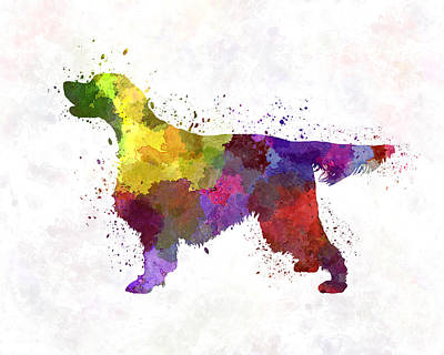 Gordon Setter In Watercolor Art Print