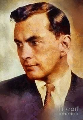 Famous Book Painting - Gore Vidal, Literary Legend by Sarah Kirk