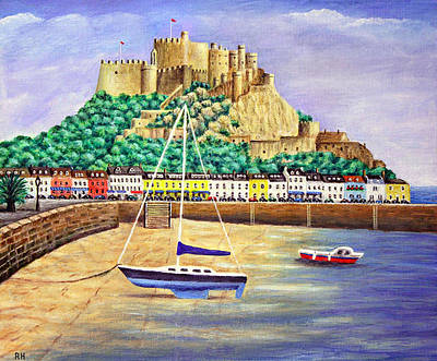 Island Painting - Gorey Castle - Jersey by Ronald Haber