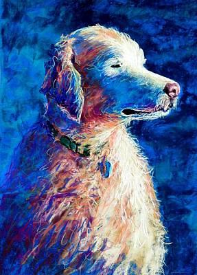 Lynee Sapere Wall Art - Pastel - Gorge Dog by Lynee Sapere