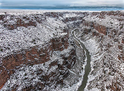 Art Print featuring the photograph Gorge In Snow by Britt Runyon