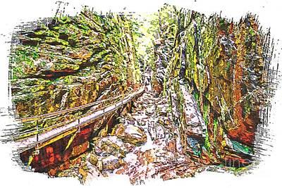 Gorge Art Print by Sherman Perry