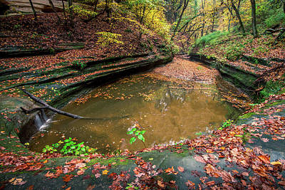 Starved Rock Wall Art - Photograph - Gorgeous Color by Josh Eral