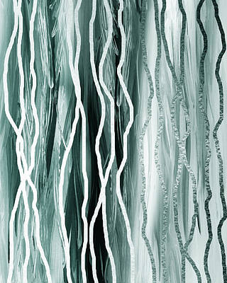 Painting - Gorgeous Grays Abstract Interior Decor IIi by Irina Sztukowski