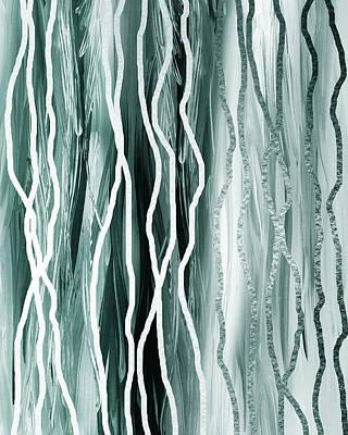 Painting - Gorgeous Grays Abstract Interior Decor IIi by Irina Sztukowski