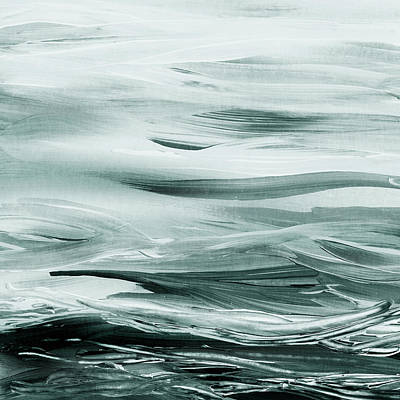 Painting - Gorgeous Grays Abstract Interior Decor Iv by Irina Sztukowski