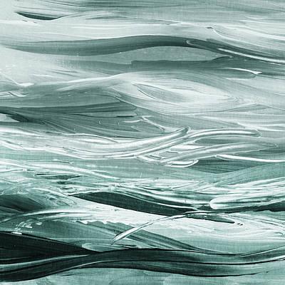 Painting - Gorgeous Grays Abstract Interior Decor V by Irina Sztukowski