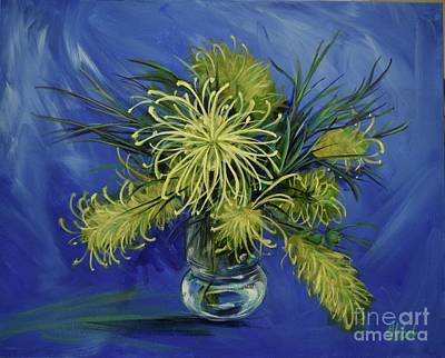 Painting - Gorgeous Grevilleas Painting by Chris Hobel