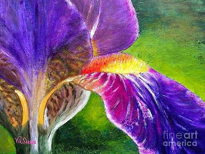 Gorgeous Iris  Art Print by Viktoriya Sirris
