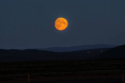 Photograph - Gorgeous Moonrose Over Thingvellir by Deborah Smolinske