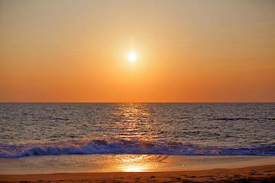 Photograph - gorgeous sundown over the Indian Ocean by Regina Koch