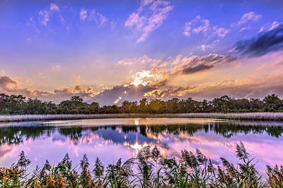 Photograph - Gorgeous Sunset On A Chesapeake Bay Pond by Patrick Wolf