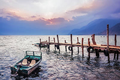 Photograph - Gorgeous Sunset On Lake Atitlan, Guatemala by Daniela Constantinescu