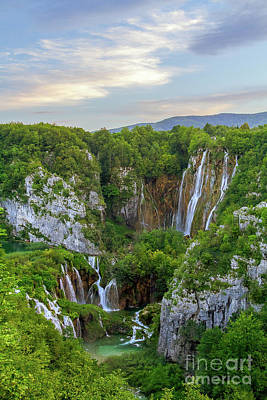 Photograph - Gorgeous Waterfall At Evening Light by Vyacheslav Isaev