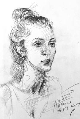 Sketch Drawing - Georgia by Ylli Haruni