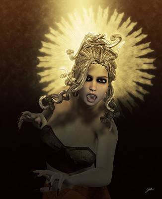 Gorgon Digital Art - Gorgon Medusa by Joaquin Abella