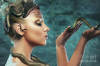 Gorgon Digital Art - Gorgon by Olena Zaskochenko