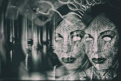 Gorgon Digital Art - Gorgons Lair by Frances Lewis