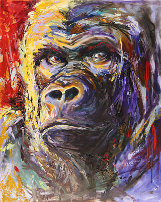Animals Royalty-Free and Rights-Managed Images - Gorilla Art by Kim Guthrie