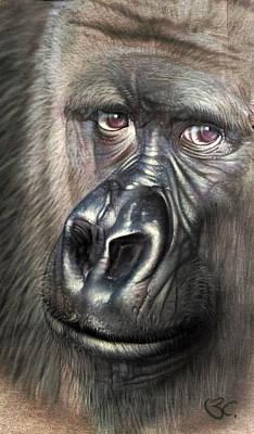 Ape. Great Ape Painting - Gorilla by BC Leedy