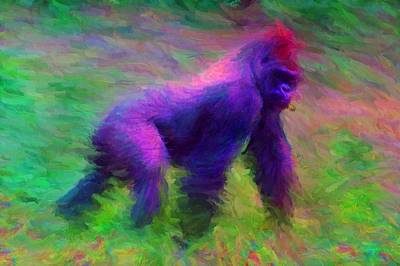 Digital Art - Gorilla by Caito Junqueira