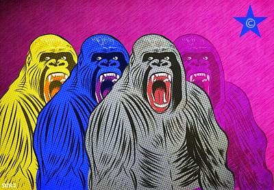 Mixed Media - Gorilla Funk by Surj LA