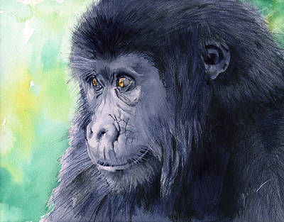 Monkey Painting - Gorilla by Galen Hazelhofer