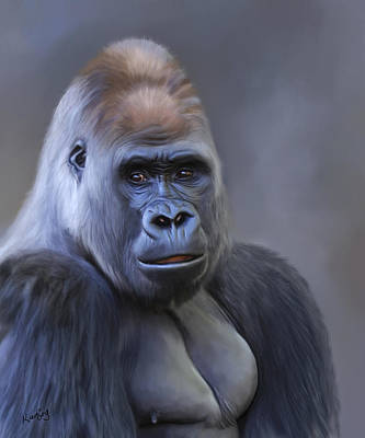 Painting - Gorilla by Johanne Dauphinais