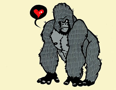 Gorilla Mixed Media - Gorilla Love by Nicole Wilson