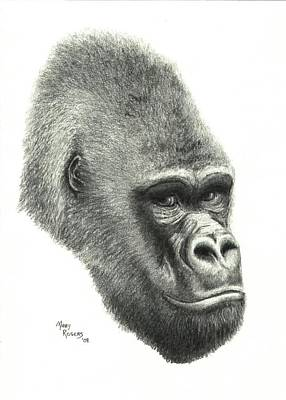 Gorilla Art Print by Mary Rogers