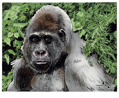 Gorilla My Dreams Art Print by Joseph Juvenal