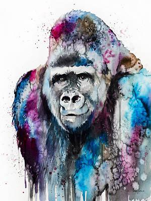 Gorilla Mixed Media - Gorilla  by Slavi Aladjova