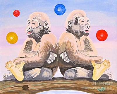 Painting - Gorilla Twins by Phyllis Kaltenbach