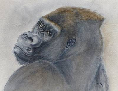 Painting - Gorilla's Celebrity Pose by Kelly Mills