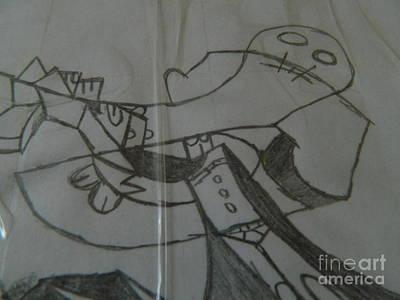 Balck Art Mixed Media - Gorillaz Storm by Alex A Lepehin