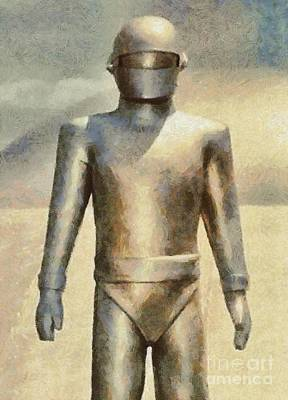 Musicians Royalty Free Images - Gort from The Day The Earth Stood Still Royalty-Free Image by Mary Bassett