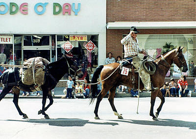 Photograph - Goshen Parade 1980 by Gene Parks