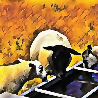 Digital Art - Gossip At Break Time by Dorothy Berry-Lound