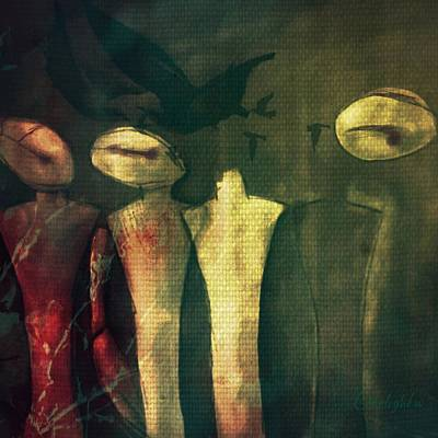 Digital Art - Gossip by Delight Worthyn