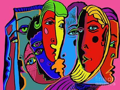 Digital Art - Gossip by Hans Magden