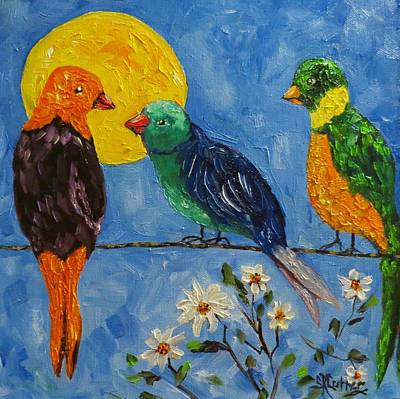 Painting - Gossip Line by Sandra Cutrer