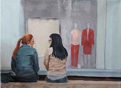 Art Print featuring the painting Gossip by Rachel Hames
