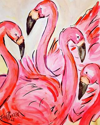 Painting - Gossip Time by FayBecca Designs