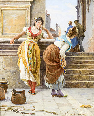 Drawing - Gossiping by Antonio Ermolao Paoletti
