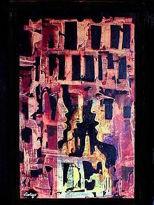 Painting - Gossips by Adalardo Nunciato  Santiago