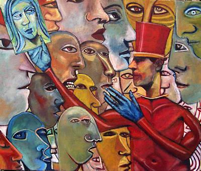 Gossips Art Print by Jonathan Franklin