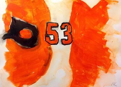 Flyers Hockey Painting - Gostisbehere No.2 by Desmond Raymond