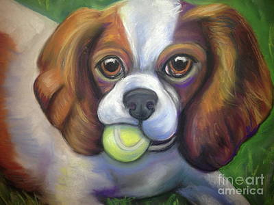 Pastel - Got Balls? King Charles by Ann Hoff