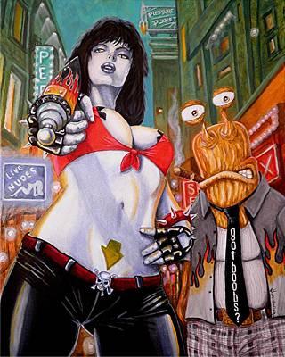 Heavy Metal Painting - Got Boobs by Al  Molina